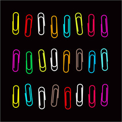 Paper clip pattern. Vector