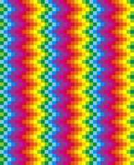 Rainbow pixel pattern. Vector