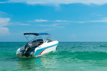 Speed boat at the sea