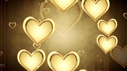 золотые  сердца