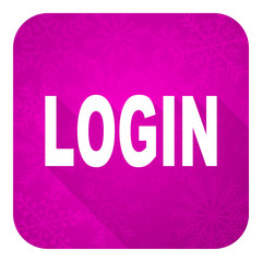 login violet flat icon, christmas button