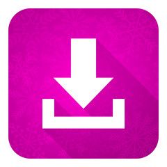 download violet flat icon, christmas button