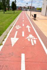 carril bici en logroño
