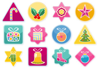 Stickers With Christmas Decorations
