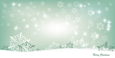 Christmas background design with snowflakes