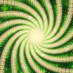 CENTERED GREEN SPIRAL