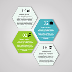 Text area infographics. Steps badges, web banners with number op