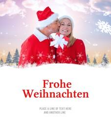 Composite image of festive couple