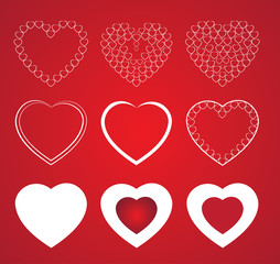 Heart shapes. Happy Valentine's day. Vector illustration.