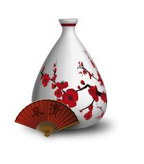 vase pommier rouge