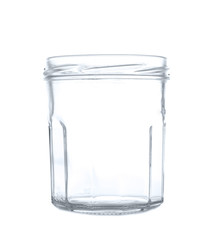Empty jar isolated on white