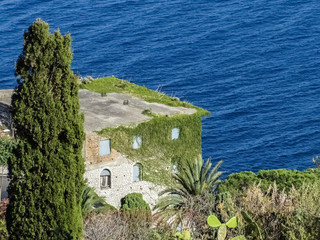 Solitary house on the sea