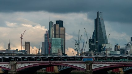 time-lapse of a London cityscape