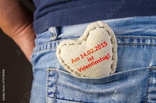 canvas print picture Valentinstag - Reminder