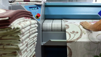Equipment for ironing linen in laundry room