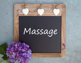 Massage - Kreidetafel