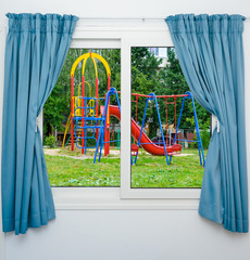 playground view out the window