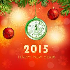 Happy New Year illustration .