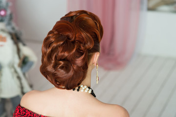 Retro hair dress, elegant, luxury style