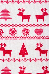 Christmas background with deer and snowflakes