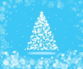 Sparkling Christmas tree background