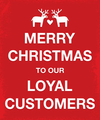 merry christmas loyal customers keep calm style poster
