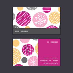 Vector abstract textured bubbles horizontal stripe frame pattern
