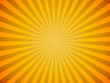 Bright yellow sun burst horizontal vector background.