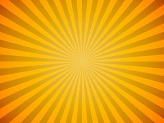 Bright yellow sun burst horizontal vector background.