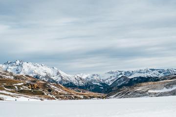 montes, invierno,paisaje