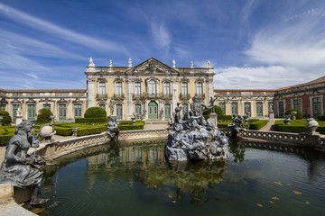 National Palace of Queluz, located in Sintra, Portugal.