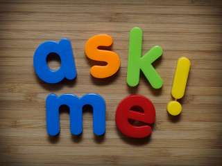 Ask me for information concept