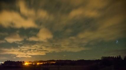 nubes de noche