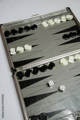 canvas print picture Backgammon Spiel