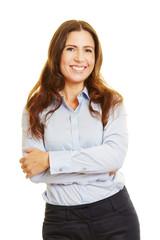 Bewerbungsbild einer attraktiven Geschäftsfrau