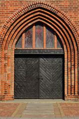 Koenigsberg Cathedral, main entrance. Kaliningrad, Russia