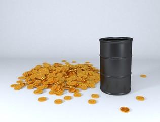 oil price in gold