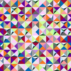 seamless background of color triangles