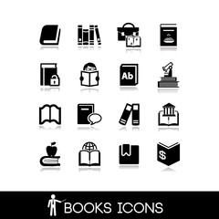 Books and Literature Icons Set 15