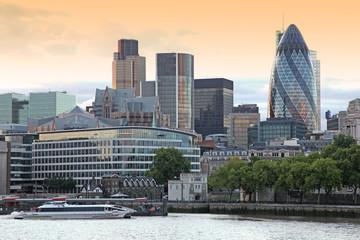 The London Financial Hub atevening
