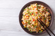 fried rice with eggs, corn and spice closeup horizontal top view - 74797413