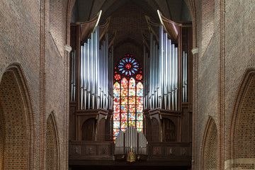Organ in the cathedral in Poznan, Poland