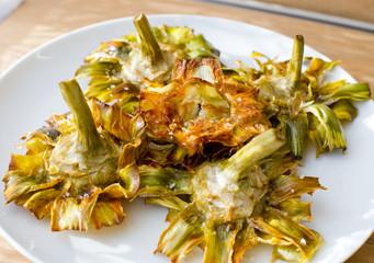 Fried artichokes.