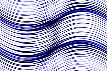 abstract blue waves shapes on white backgrounds