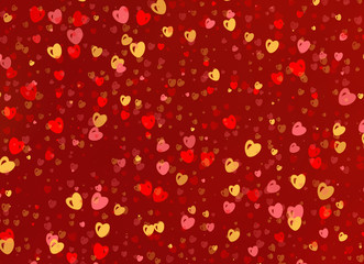 many multicolored small hearts backgrounds