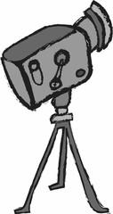 cartoon retro cinema projector