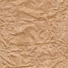 Recycle Brown Kraft Paper Bag Crumpled Grunge Texture Detail