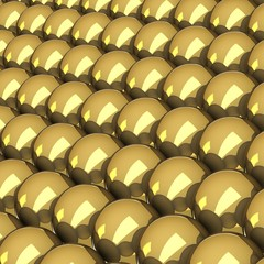 Are grouped balls of gold, created a bright gold background.