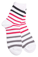 Pair of striped socks
