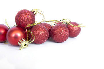 christmas balls with glitter